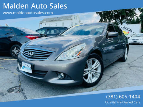 2011 Infiniti G37 Sedan for sale at Malden Auto Sales in Malden MA