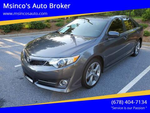 2014 Toyota Camry for sale at Msinco's Auto Broker in Snellville GA