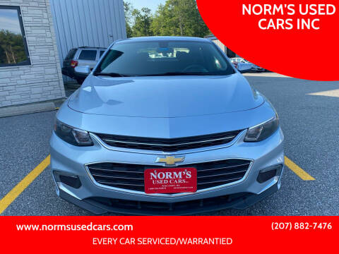 2018 Chevrolet Malibu for sale at NORM'S USED CARS INC in Wiscasset ME