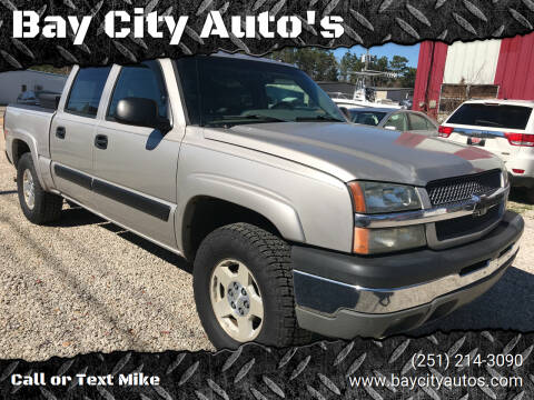 2004 Chevrolet Silverado 1500 for sale at Bay City Auto's in Mobile AL