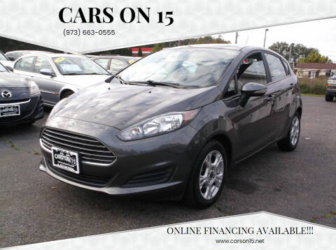 2015 Ford Fiesta for sale at Cars On 15 in Lake Hopatcong NJ