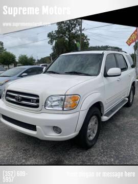2002 Toyota Sequoia for sale at Supreme Motors in Tavares FL