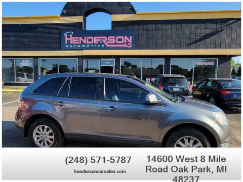 2010 Ford Edge for sale at Henderson Automotive, LLC in Oak Park MI