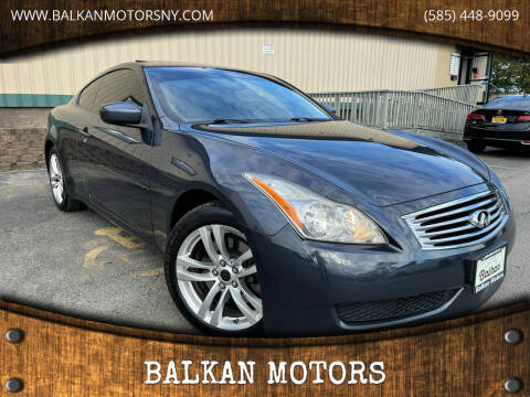 2010 Infiniti G37 Coupe for sale at BALKAN MOTORS in East Rochester NY
