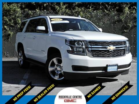 2018 Chevrolet Tahoe for sale at Rockville Centre GMC in Rockville Centre NY