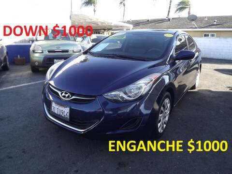 2013 Hyundai Elantra for sale at PACIFICO AUTO SALES in Santa Ana CA