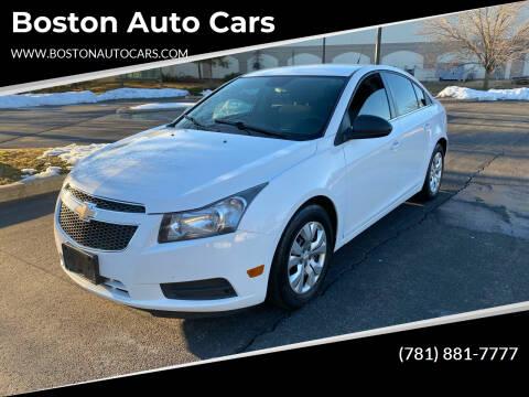 2012 Chevrolet Cruze for sale at Boston Auto Cars in Dedham MA