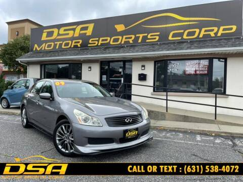 2009 Infiniti G37 Sedan for sale at DSA Motor Sports Corp in Commack NY