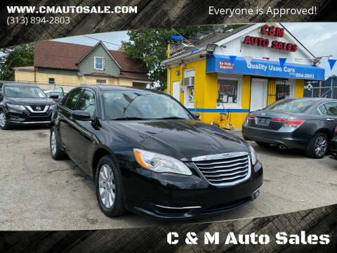 2012 Chrysler 200 for sale at C & M Auto Sales in Detroit MI