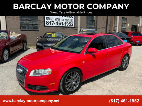 2008 Audi A4 for sale at BARCLAY MOTOR COMPANY in Arlington TX