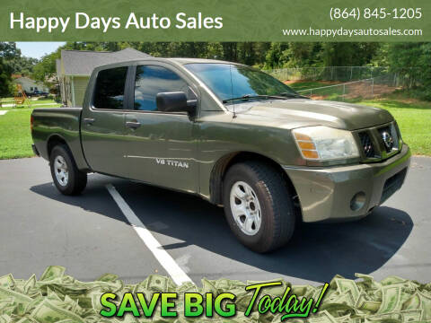 2005 Nissan Titan for sale at Happy Days Auto Sales in Piedmont SC