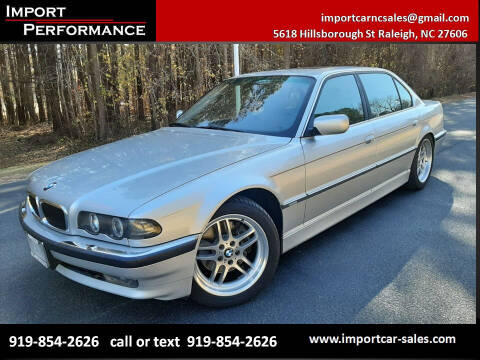 2001 BMW 7 Series for sale at Import Performance Sales in Raleigh NC