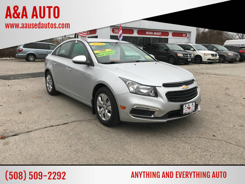 2015 Chevrolet Cruze for sale at A&A AUTO in Fairhaven MA