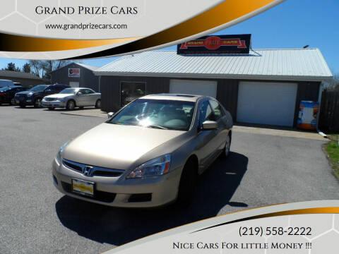 2007 Honda Accord for sale at Grand Prize Cars in Cedar Lake IN