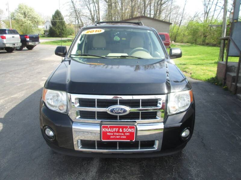 2010 Ford Escape for sale at Knauff & Sons Motor Sales in New Vienna OH