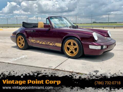 1991 Porsche 911 for sale at Vintage Point Corp in Miami FL