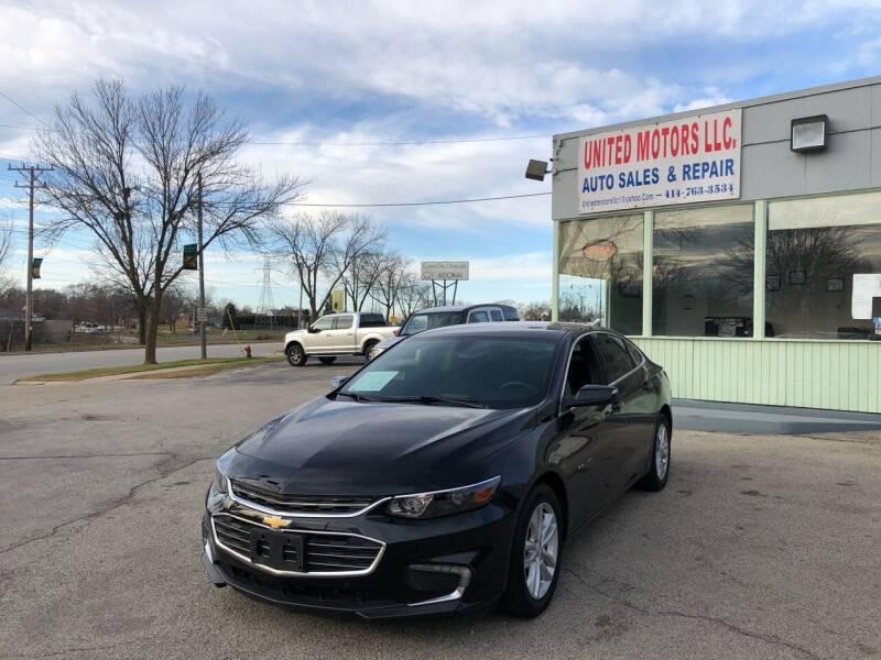 2016 Chevrolet Malibu for sale at United Motors LLC in Saint Francis WI