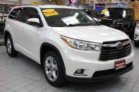 2015 Toyota Highlander for sale at Windy City Motors in Chicago IL
