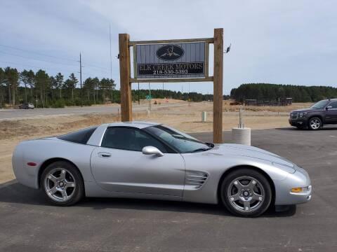1999 Chevrolet Corvette for sale at Elk Creek Motors LLC in Park Rapids MN