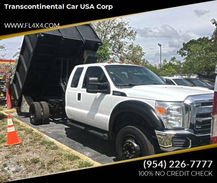 2012 Ford F-550 Super Duty for sale at Transcontinental Car USA Corp in Fort Lauderdale FL