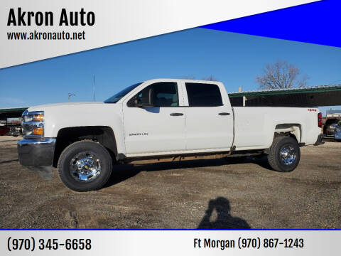2018 Chevrolet Silverado 2500HD for sale at Akron Auto in Akron CO
