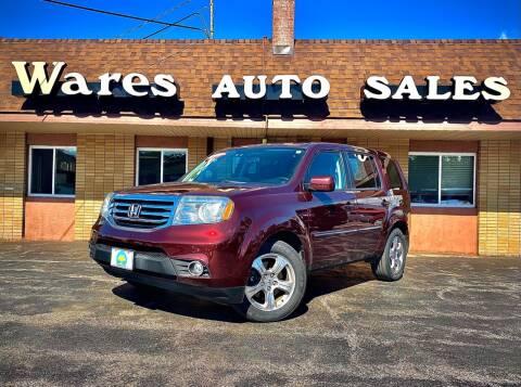2013 Honda Pilot for sale at Wares Auto Sales INC in Traverse City MI