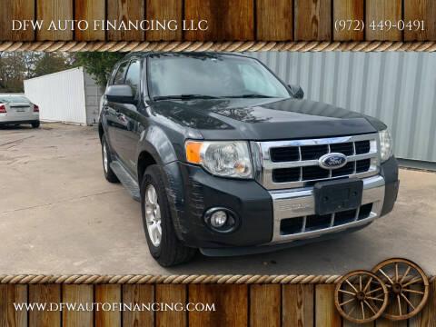2008 Ford Escape for sale at DFW AUTO FINANCING LLC in Dallas TX
