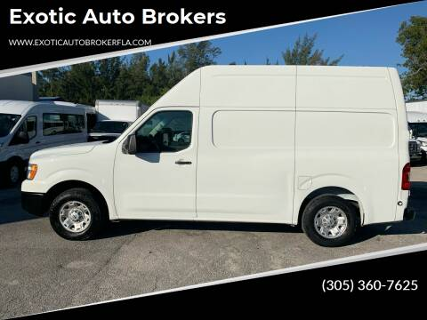 2017 Nissan NV Cargo for sale at Exotic Auto Brokers in Miami FL