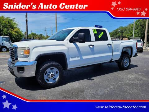 2015 GMC Sierra 2500HD for sale at Snider's Auto Center in Titusville FL
