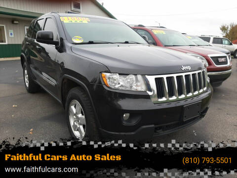 2013 Jeep Grand Cherokee for sale at Faithful Cars Auto Sales in North Branch MI