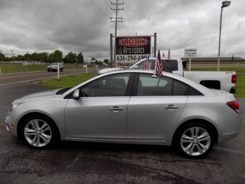 2016 Chevrolet Cruze Limited for sale at MYLENBUSCH AUTO SOURCE in O` Fallon MO