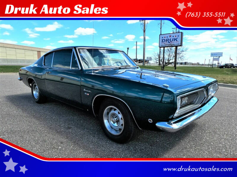 1968 Plymouth Barracuda for sale at Druk Auto Sales in Ramsey MN