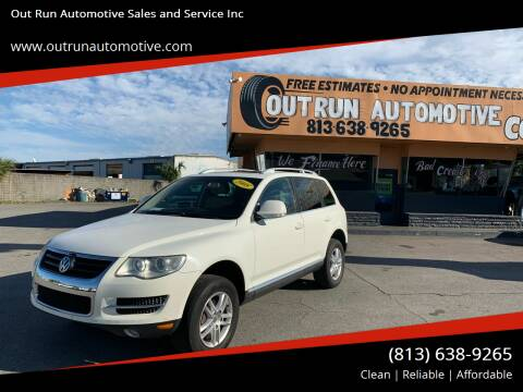 2008 Volkswagen Touareg 2 for sale at Out Run Automotive Sales and Service Inc in Tampa FL