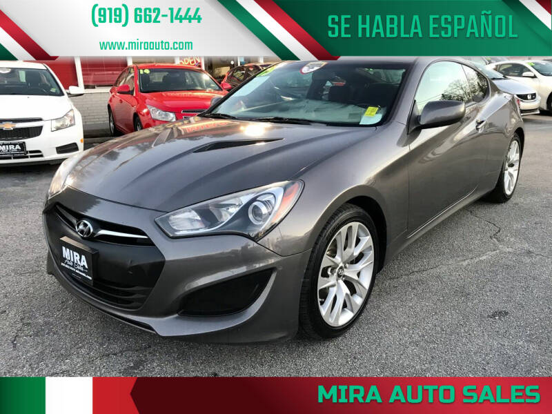 2013 Hyundai Genesis Coupe for sale at Mira Auto Sales in Raleigh NC