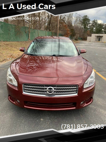 2009 Nissan Maxima for sale at L A Used Cars in Abington MA