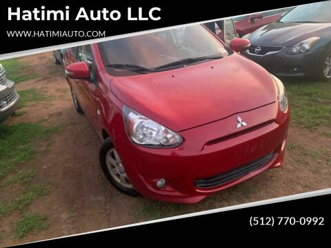 2015 Mitsubishi Mirage for sale at Hatimi Auto LLC in Buda TX