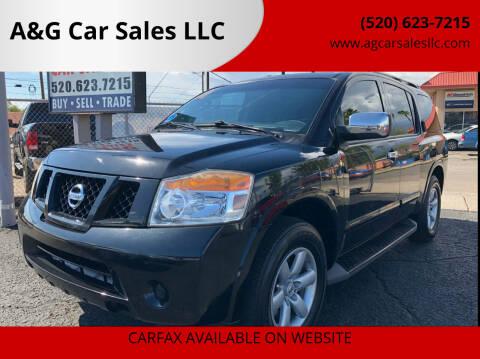 2010 Nissan Armada for sale at A&G Car Sales  LLC in Tucson AZ