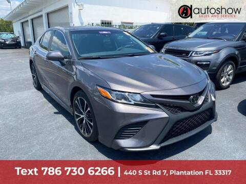 2019 Toyota Camry for sale at AUTOSHOW SALES & SERVICE in Plantation FL