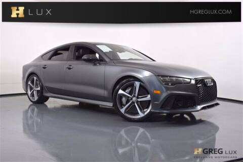 2017 Audi RS 7 for sale at HGREG LUX EXCLUSIVE MOTORCARS in Pompano Beach FL