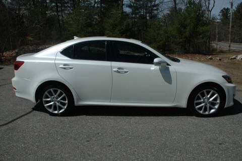 2013 Lexus IS 250 for sale at Bruce H Richardson Auto Sales in Windham NH