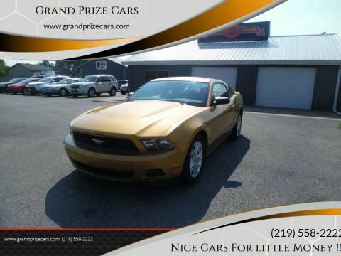 2010 Ford Mustang for sale at Grand Prize Cars in Cedar Lake IN