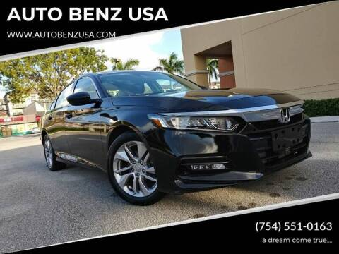 2018 Honda Accord for sale at AUTO BENZ USA in Fort Lauderdale FL