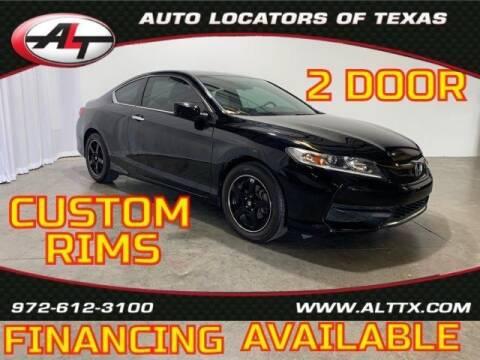 2016 Honda Accord for sale at AUTO LOCATORS OF TEXAS in Plano TX