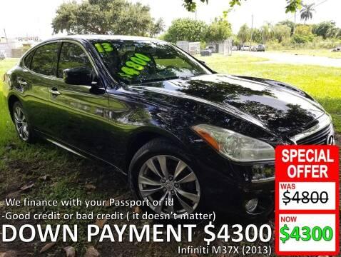 2013 Infiniti M37 for sale at AUTO COLLECTION OF SOUTH MIAMI in Miami FL