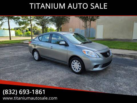 2013 Nissan Versa for sale at TITANIUM AUTO SALE in Houston TX