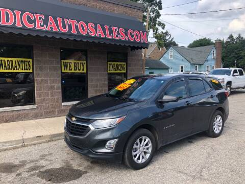 2018 Chevrolet Equinox for sale at Dice Auto Sales in Lansing MI