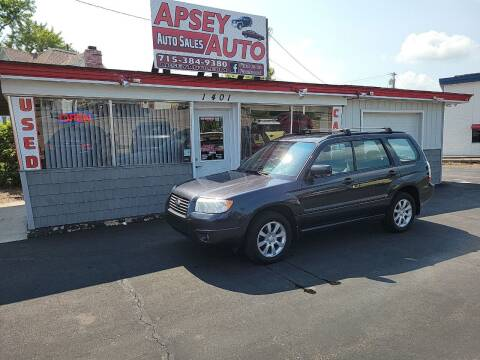 2008 Subaru Forester for sale at Apsey Auto in Marshfield WI