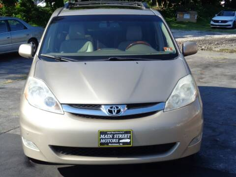 2009 Toyota Sienna for sale at MAIN STREET MOTORS in Norristown PA