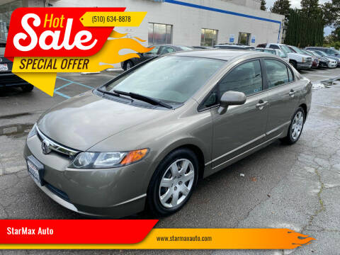 2006 Honda Civic for sale at StarMax Auto in Fremont CA