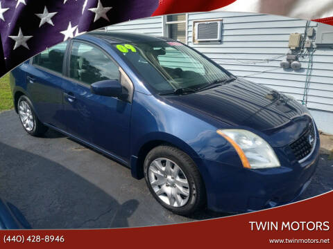 2009 Nissan Sentra for sale at TWIN MOTORS in Madison OH